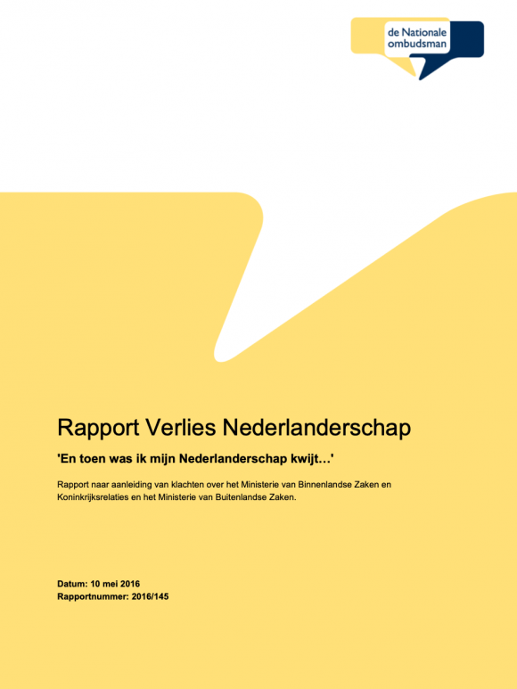 Rapport Verlies Nederlanderschap (Dutch)
